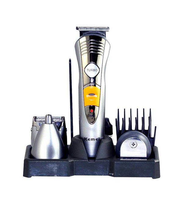 Kemei Rechargeable KM-580A 7 in 1 Men's Grooming Kit | 24hours.pk