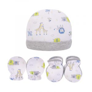 Bebe Comfort- Hat, Mitten & Booties Set Light Grey