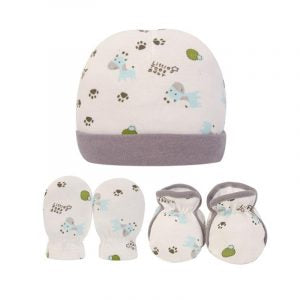 Bebe Comfort- Hat, Mitten & Booties Set Grey