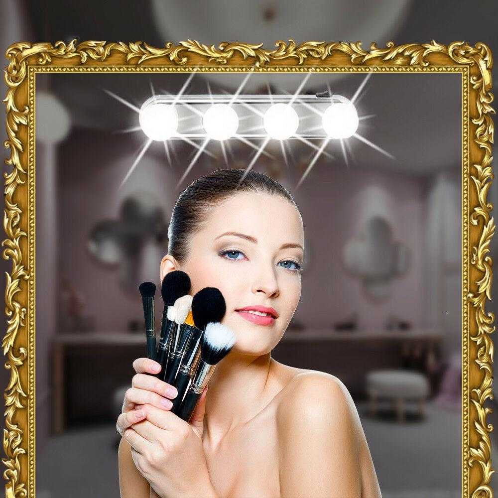 Studio Glow Vanity Make Up Light Super Bright 4 Led Bulbs