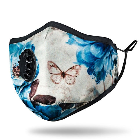 Cotton mask N95 - anti pollution  - earloops - filter PM2.5 - Woman - Butterfly