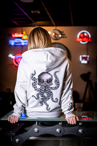 "Sweat à capuche zip ""Octopus Skull"""