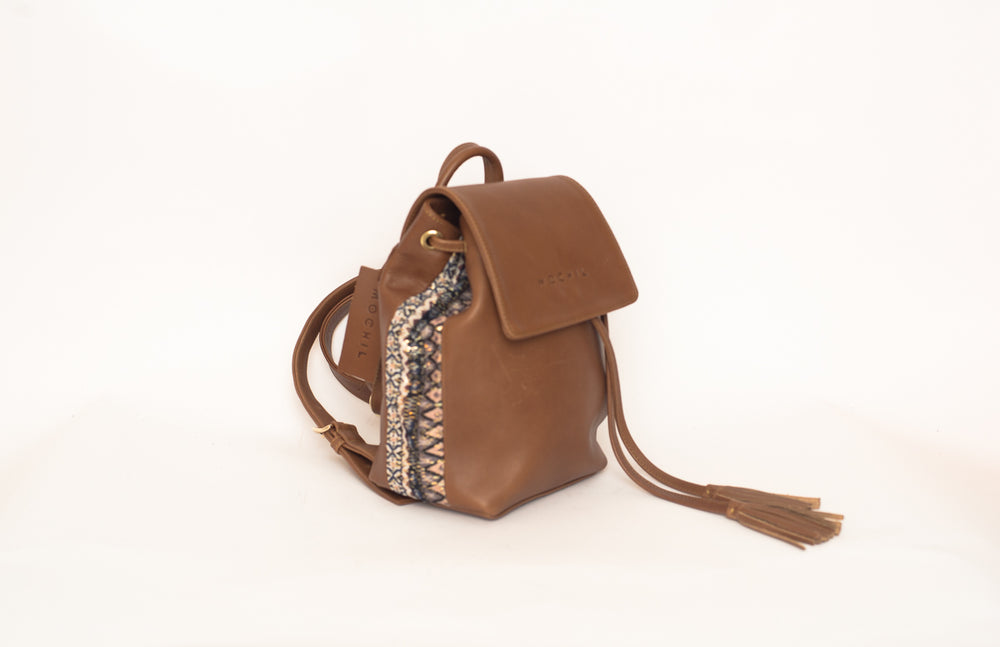 MINI SANTI BACKPACK - BROWN