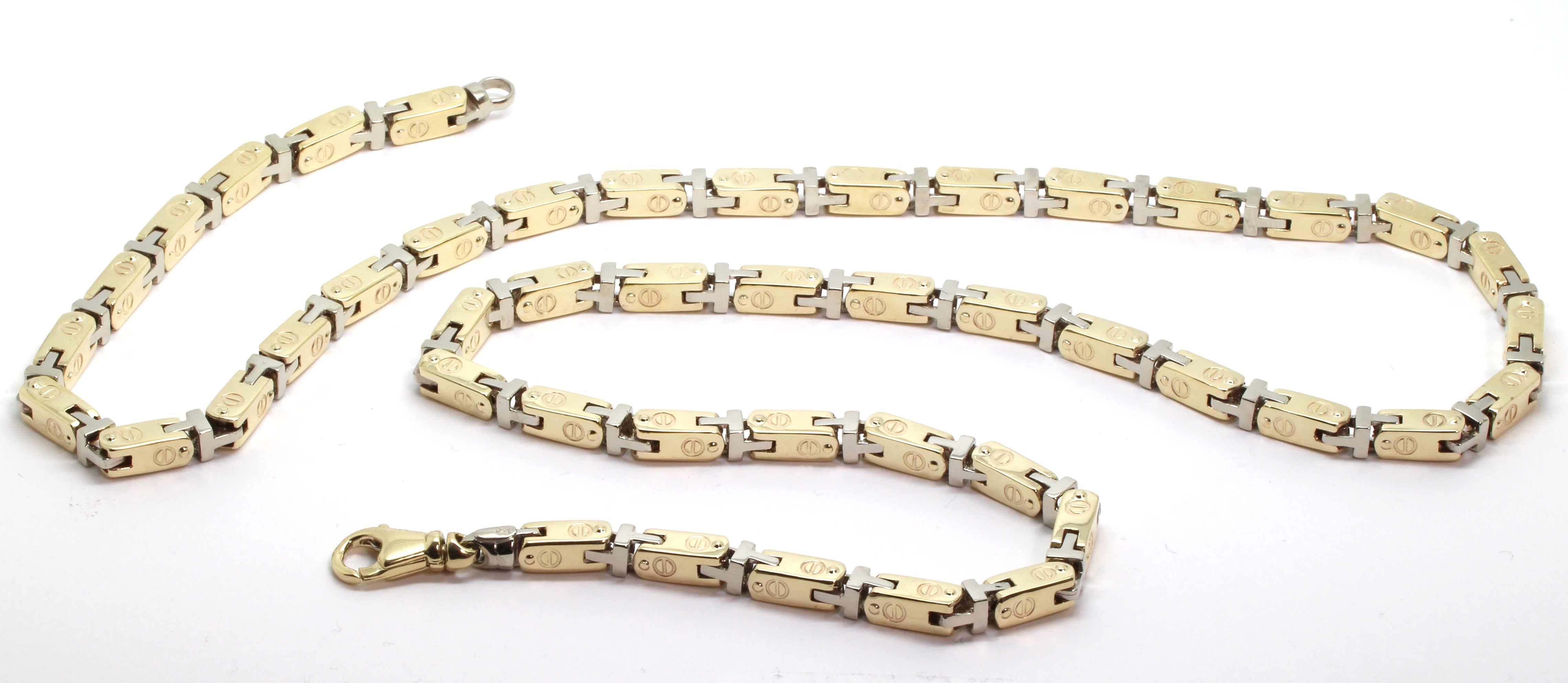 yellow box chains gold and inches chain wide in