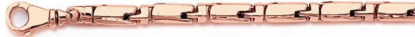 14k rose gold, 18k pink gold chain 5mm Mecha Barrel II Link Bracelet