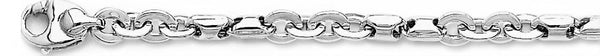 18k white gold chain, 14k white gold chain 6.1mm Figawasher Link Bracelet