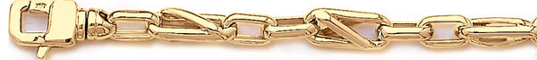 18k yellow gold chain, 14k yellow gold chain 6.7mm Criss Angle Link Bracelet