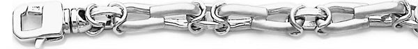 18k white gold chain, 14k white gold chain 7.5mm Kasi Link Bracelet