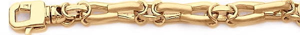 18k yellow gold chain, 14k yellow gold chain 7.5mm Kasi Link Bracelet