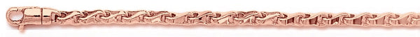 14k rose gold, 18k pink gold chain 3.4mm Knuckle Bone Link Bracelet