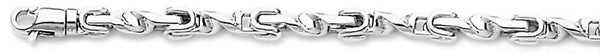 18k white gold chain, 14k white gold chain 4mm Vesuvio Link Bracelet