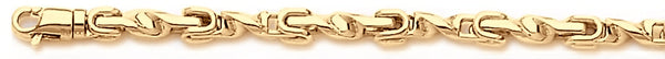 18k yellow gold chain, 14k yellow gold chain 4mm Vesuvio Link Bracelet