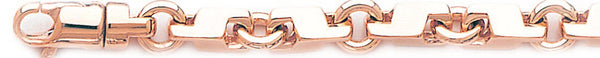 14k rose gold, 18k pink gold chain 7.4mm Short Circuit Link Bracelet