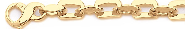 18k yellow gold chain, 14k yellow gold chain 9.6mm Amalfi Link Bracelet