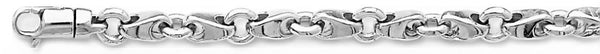 18k white gold chain, 14k white gold chain 6.1mm Mirror Link Bracelet