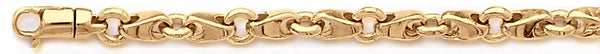 18k yellow gold chain, 14k yellow gold chain 6.1mm Mirror Link Bracelet