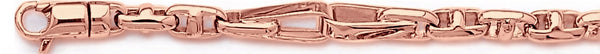 14k rose gold, 18k pink gold chain 5.8mm Posh Link Bracelet