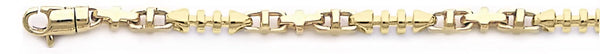 18k yellow gold chain, 14k yellow gold chain 3.5mm Aria Link Bracelet