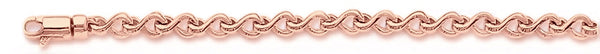 14k rose gold, 18k pink gold chain 3.8mm Wishbone Link Bracelet