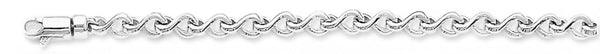 18k white gold chain, 14k white gold chain 3.8mm Wishbone Link Bracelet