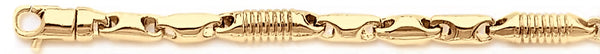 18k yellow gold chain, 14k yellow gold chain 4.4mm Focal Link Bracelet