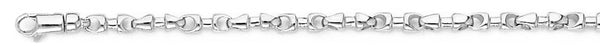 18k white gold chain, 14k white gold chain 3.3mm Abacus Link Bracelet
