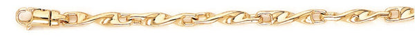 18k yellow gold chain, 14k yellow gold chain 3.6mm Harmony Link Bracelet
