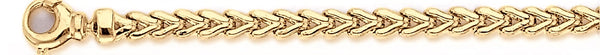 18k yellow gold chain, 14k yellow gold chain 4.7mm Foxtail Link Bracelet