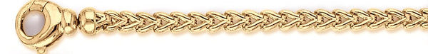 18k yellow gold chain, 14k yellow gold chain 5mm Foxtail Link Bracelet