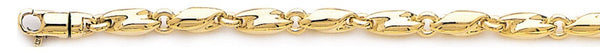 18k yellow gold chain, 14k yellow gold chain 4.1mm Elipse Link Bracelet