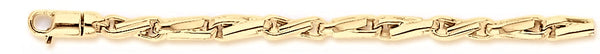 18k yellow gold chain, 14k yellow gold chain 3.8mm Twisted Avion Link Bracelet