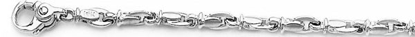 18k white gold chain, 14k white gold chain 4.4mm Destiny Link Bracelet