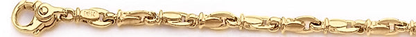 18k yellow gold chain, 14k yellow gold chain 4.4mm Destiny Link Bracelet