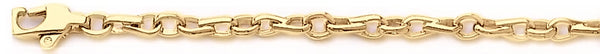 18k yellow gold chain, 14k yellow gold chain 3.8mm Tough Link Bracelet