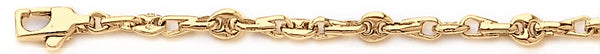 18k yellow gold chain, 14k yellow gold chain 4.4mm Neptune Link Bracelet