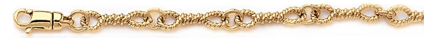 18k yellow gold chain, 14k yellow gold chain 5mm Twist Tie Link Bracelet