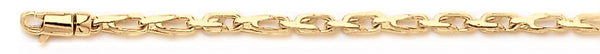 18k yellow gold chain, 14k yellow gold chain 2.5mm Tooth Link Bracelet
