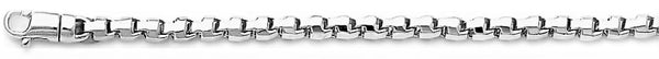 18k white gold chain, 14k white gold chain 3.3mm Rounded Box Link Bracelet