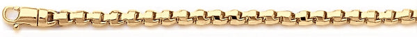 18k yellow gold chain, 14k yellow gold chain 3.3mm Rounded Box Link Bracelet