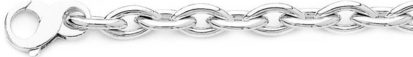 18k white gold chain, 14k white gold chain 8.3mm Football Link Bracelet