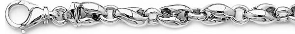 18k white gold chain, 14k white gold chain 8.3mm Narnia Link Bracelet
