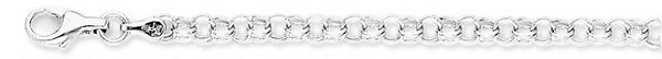 18k white gold chain, 14k white gold chain 4.4mm Light Charm Link Bracelet