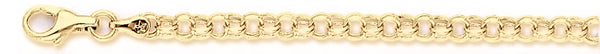 18k yellow gold chain, 14k yellow gold chain 4.4mm Light Charm Link Bracelet