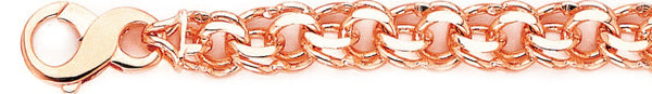 14k rose gold, 18k pink gold chain 10.3mm Double Chain Necklace
