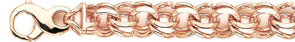 12mm Double Link Bracelet custom made gold chain