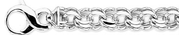 18k white gold chain, 14k white gold chain 12.8mm Double Link Bracelet