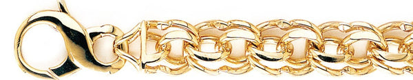 13.3mm Double Link Bracelet custom made gold chain