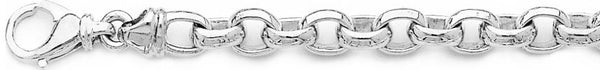 18k white gold chain, 14k white gold chain 7.6mm Domed Rolo Link Bracelet