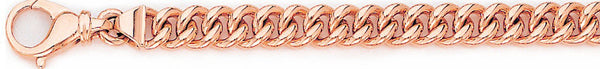 14k rose gold, 18k pink gold chain 7.4mm Miami Cuban Curb Link Bracelet