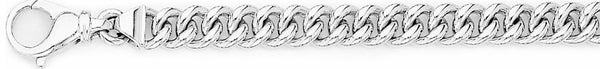 18k white gold chain, 14k white gold chain 7.4mm Miami Cuban Curb Link Bracelet